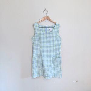 Vintage Lilly Pulitzer Pastel Plaid Jumper Dress
